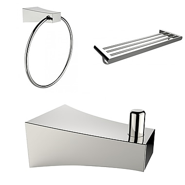 American Imaginations Robe Hook, Multi-Rod Towel Rack and Towel Ring Accessory Set (AI-13535)