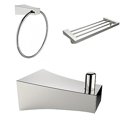 American Imaginations Robe Hook, Multi-Rod Towel Rack and Towel Ring Accessory Set (AI-13533)