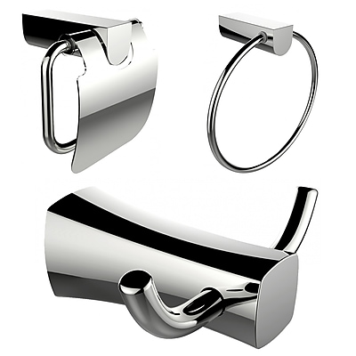 American Imaginations Robe Hook, Toilet Paper Holder and Towel Ring Accessory Set (AI-13436)