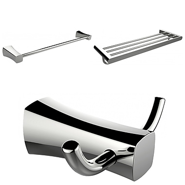 American Imaginations Multi-Rod Towel Rack With Robe Hook and Single Towel Rod Accessory Set (AI-13468)