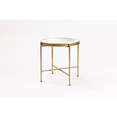 FirsTime Large Gild Pop Up Tray Table, White (BTSKDW-L)