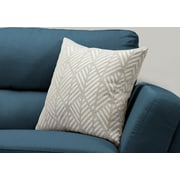 """Monarch Specialties 18"""" x 18"""" Polyester Light Grey Accent Pillow (I 9200)"""
