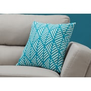 "Monarch Specialties 18"" x 18"" Polyester Teal Accent Pillow (I 9210)"
