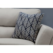 "Monarch Specialties 18"" x 18"" Polyester Blue Accent Pillow (I 9212)"