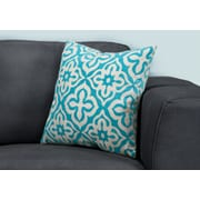 "Monarch Specialties 18"" x 18"" Polyester Teal Accent Pillow (I 9224)"