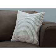 "Monarch Specialties 18"" x 18"" Polyester Blue,Grey Accent Pillow (I 9230)"