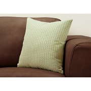 "Monarch Specialties 18"" x 18"" Polyester Green Accent Pillow (I 9232)"