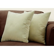 "Monarch Specialties 18"" x 18"" Polyester Green Accent Pillow, Set of 2 (I 9233)"