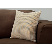 "Monarch Specialties 18"" x 18"" Polyester Gold,Grey Accent Pillow (I 9234)"