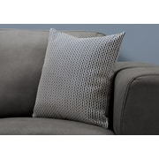 """Monarch Specialties 18"""" x 18"""" Polyester Blue Accent Pillow (I 9240)"""
