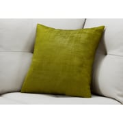 "Monarch Specialties 18"" x 18"" Polyester Green Accent Pillow (I 9244)"
