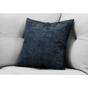 "Monarch Specialties 18"" x 18"" Polyester Blue Accent Pillow (I 9248)"