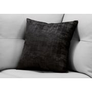 "Monarch Specialties 18"" x 18"" Polyester Black Accent Pillow (I 9252)"