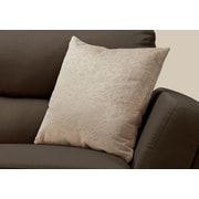 "Monarch Specialties 18"" x 18"" Polyester Taupe Accent Pillow (I 9254)"