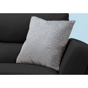 "Monarch Specialties 18"" x 18"" Polyester Light Grey Accent Pillow (I 9256)"
