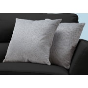 "Monarch Specialties 18"" x 18"" Polyester Light Grey Accent Pillow, Set of 2 (I 9257)"