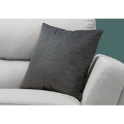 "Monarch Specialties 18"" x 18"" Polyester Dark Grey Accent Pillow (I 9258)"