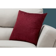 "Monarch Specialties 18"" x 18"" Polyester Red Accent Pillow (I 9260)"