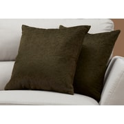 "Monarch Specialties 18"" x 18"" Polyester Green Accent Pillow, Set of 2 (I 9263)"