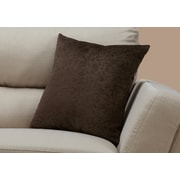 "Monarch Specialties 18"" x 18"" Polyester Brown Accent Pillow (I 9264)"