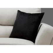 "Monarch Specialties 18"" x 18"" Polyester Black Accent Pillow (I 9266)"