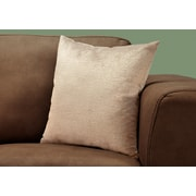 "Monarch Specialties 18"" x 18"" Polyester Taupe Accent Pillow (I 9270)"