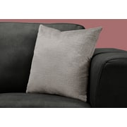 "Monarch Specialties 18"" x 18"" Polyester Grey Accent Pillow (I 9272)"