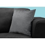 "Monarch Specialties 18"" x 18"" Polyester Dark Grey Accent Pillow (I 9274)"