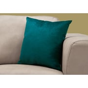"Monarch Specialties 18"" x 18"" Polyester Emerald Accent Pillow (I 9280)"