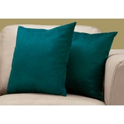 "Monarch Specialties 18"" x 18"" Polyester Emerald Accent Pillow, Set of 2 (I 9281)"