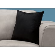 "Monarch Specialties 18"" x 18"" Polyester Black Accent Pillow (I 9286)"