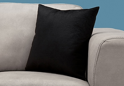 """Monarch Specialties 18"""" x 18"""" Polyester Black Accent Pillow (I 9286)"""