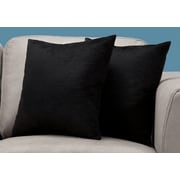 "Monarch Specialties 18"" x 18"" Polyester Black Accent Pillow, Set of 2 (I 9287)"
