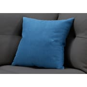 "Monarch Specialties 18"" x 18"" Polyester Blue Accent Pillow (I 9290)"