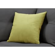 "Monarch Specialties 18"" x 18"" Polyester Green Accent Pillow (I 9292)"