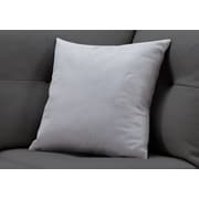 "Monarch Specialties 18"" x 18"" Polyester Light Grey Accent Pillow (I 9294)"