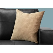"""Monarch Specialties 18"""" x 18"""" Polyester Tan Accent Pillow (I 9296)"""