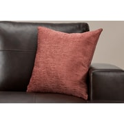 "Monarch Specialties 18"" x 18"" Polyester Dusty Rose Accent Pillow (I 9300)"