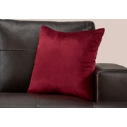 "Monarch Specialties 18"" x 18"" Polyester Burgundy Accent Pillow (I 9304)"