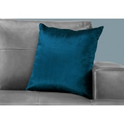 "Monarch Specialties 18"" x 18"" Polyester Blue Accent Pillow (I 9308)"