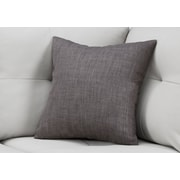 "Monarch Specialties 18"" x 18"" Polyester Dark Grey Accent Pillow (I 9312)"