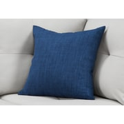 "Monarch Specialties 18"" x 18"" Polyester Blue Accent Pillow (I 9314)"