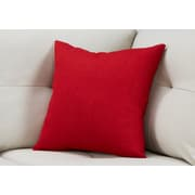 "Monarch Specialties 18"" x 18"" Polyester Red Accent Pillow (I 9316)"
