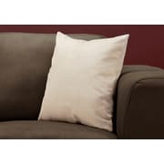 "Monarch Specialties 18"" x 18"" Polyester Taupe Accent Pillow (I 9318)"