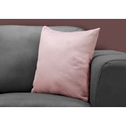 "Monarch Specialties 18"" x 18"" Polyester Pink Accent Pillow (I 9322)"