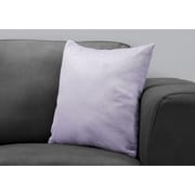 "Monarch Specialties 18"" x 18"" Polyester Purple Accent Pillow (I 9324)"