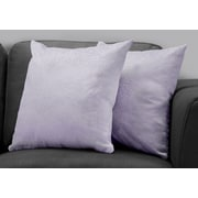 "Monarch Specialties 18"" x 18"" Polyester Purple Accent Pillow, Set of 2 (I 9325)"