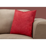 "Monarch Specialties 18"" x 18"" Polyester Red Accent Pillow (I 9326)"