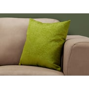 "Monarch Specialties 18"" x 18"" Polyester Green Accent Pillow (I 9328)"