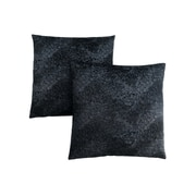 "Monarch Specialties 18"" x 18"" Polyester Black Accent Pillow, Set of 2 (I 9333)"